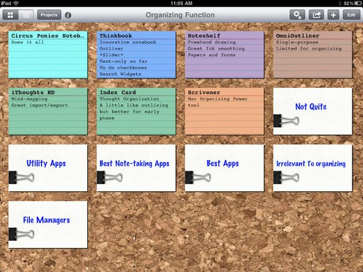 organizing your thoughts and information on the ipad – best apps