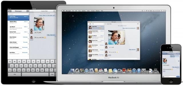 iPad, Macbook Air, iPhone 4 side by side